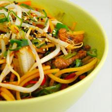 Wok de vegetales