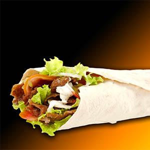 Roll kebap (comida tibia)