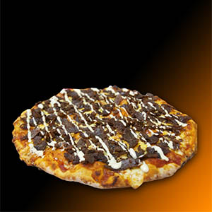 Menú 6 - Pizzeta Kebap's familiar (30 cm aprox.) + Refrescos línea coca cola 600cc