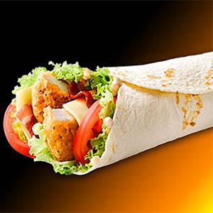 Wrap de pollo (comida tibia)