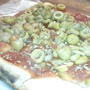 Porción pizza común con 1 gusto