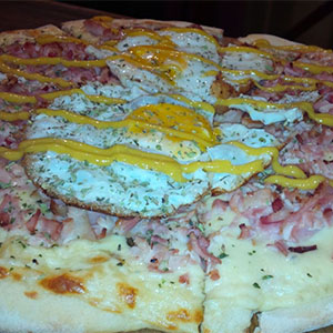 Pizzeta de bacon