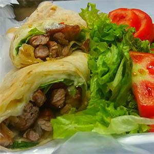 Wraps de vegetariano 2 con guarnicion