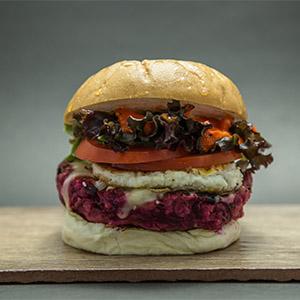Kriptonita Burger con pan libre de gluten con fritas