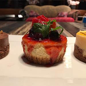 Cheese cake de frutos rojos libre de gluten