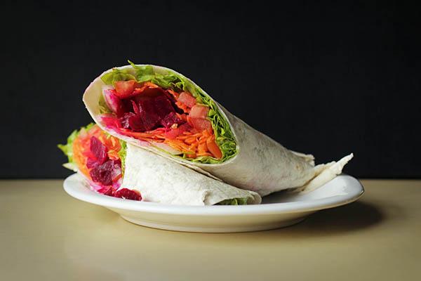 Wraps de vegetariano con guarnicion