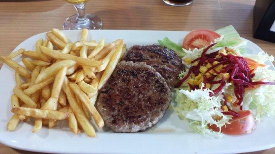 Hamburguesa al plato