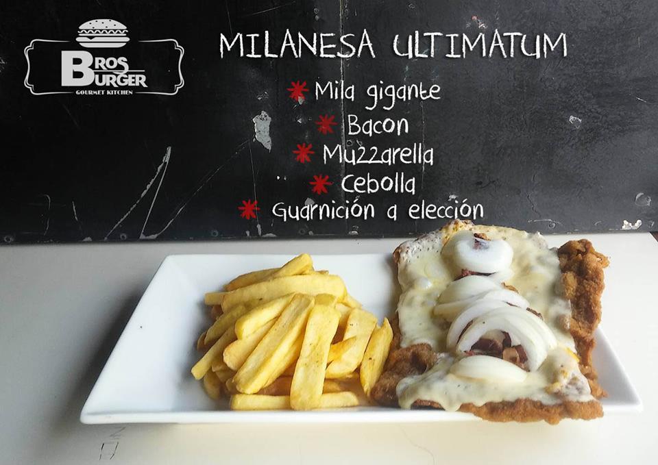 Milanesa Maximo Extremo con guarnicion