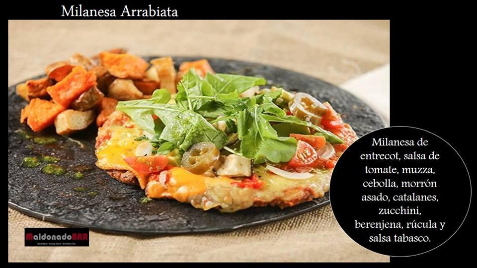 Milanesa arrabiata a la pizza