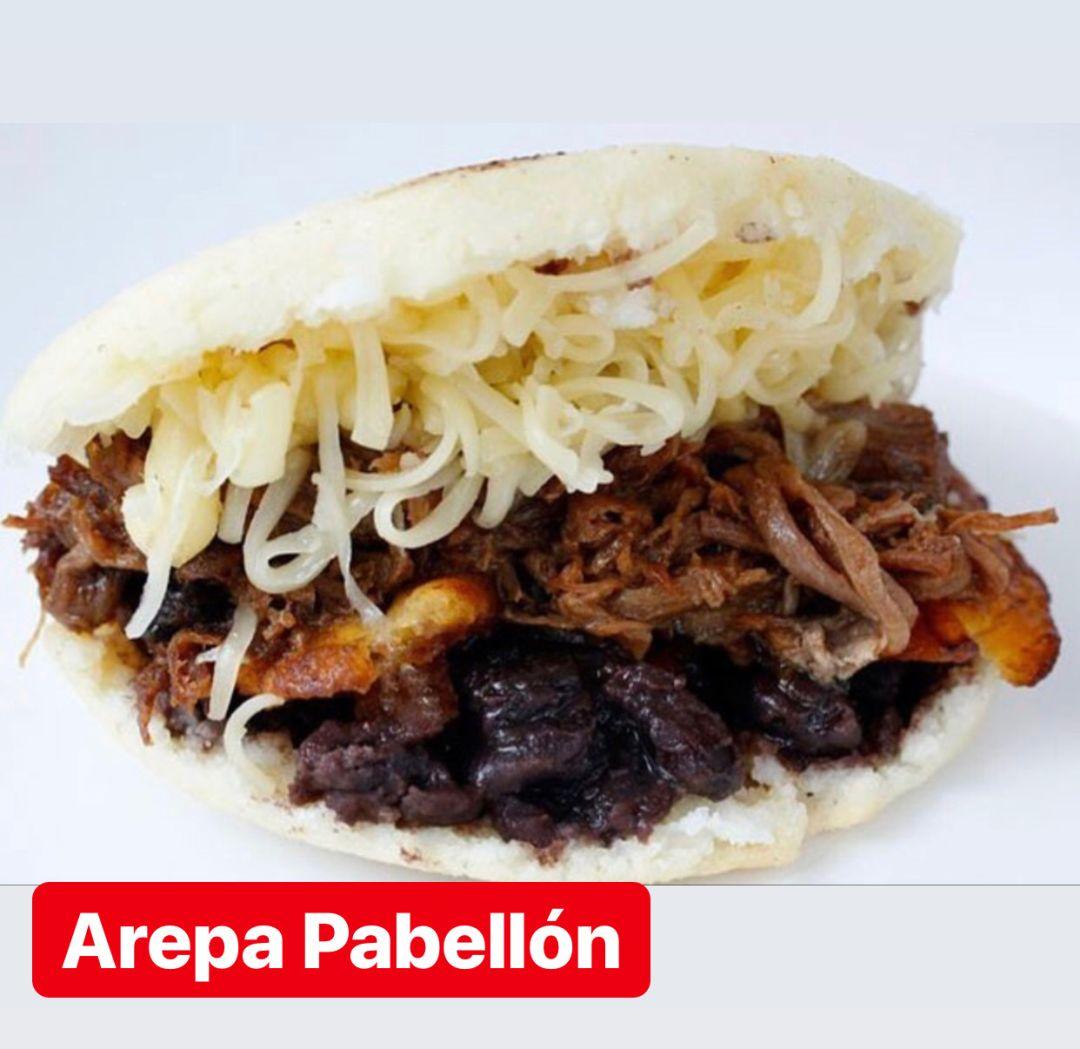 Arepa Pabellon criollo