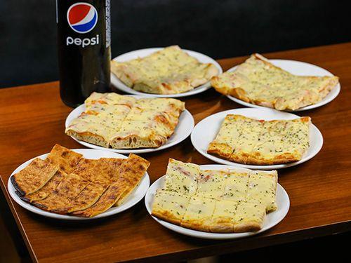 Promo pizzeta 3 - Metro de muzzarella + bebida + fainá de regalo