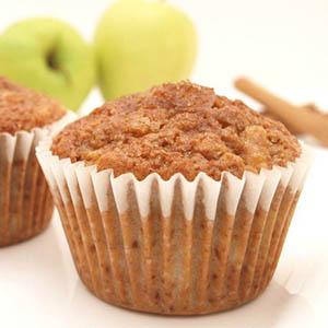 Muffin de manzana y canela
