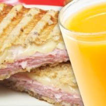 Sandwich caliente + Exprimido de naranja
