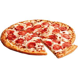 Pizza mozzarella con tomates frescos (8 porciones)