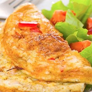 Omelette con ensalada