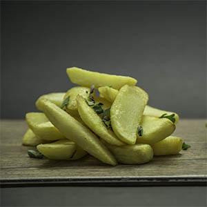 -Canje- Porcion de papas fritas caseras libre de gluten